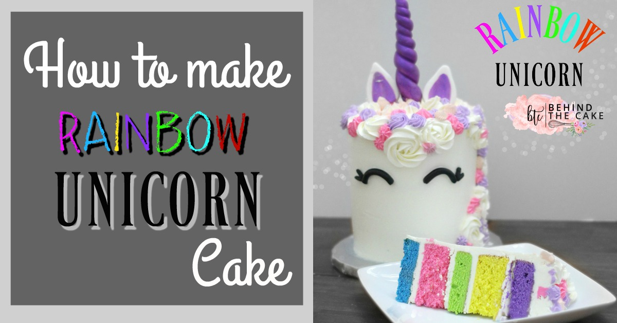 how to make a unicorn cake from scratch